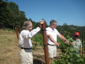 Bill Aribios and Wally in Sonoma
