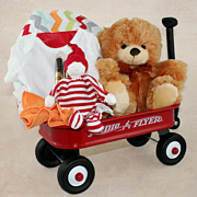 Radio Flyer Wagon Baby Gift Basket