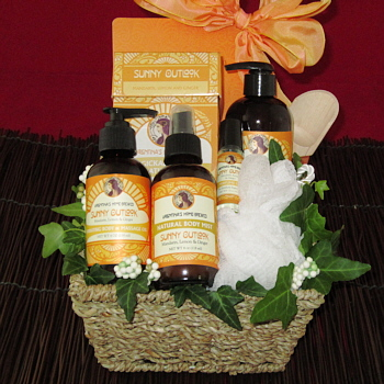 Sunny Outlook All Natural Bath Basket