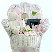 Rockabye Baby Wicker Chair Gift Basket