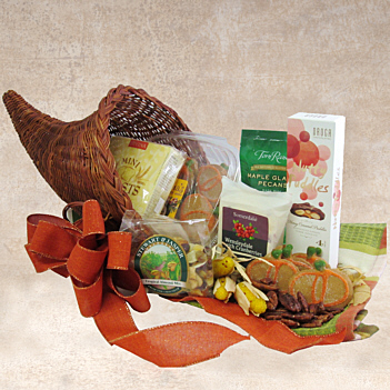 Fall Cornucopia Gift Basket