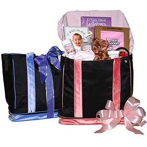 Silk Diaper Bag Gift Basket