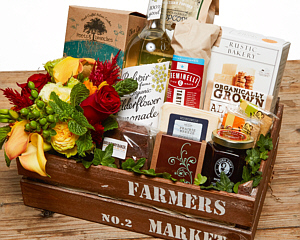 Thanksgiving gift baskets from fancifull gift baskets farmers market fresh gourmet gift basket negle Choice Image