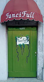 The front door at FanciFull Gift Baskets