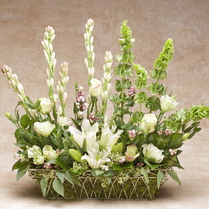 Victorian Dream Flower Basket Arrangement