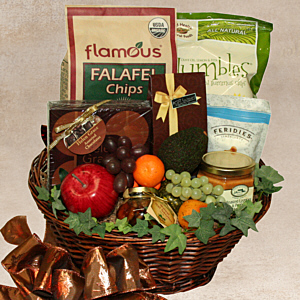 Fine Foods and Fresh Fruits Gift Basket