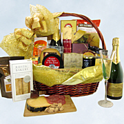 Solid Gold Champagne Gift Basket