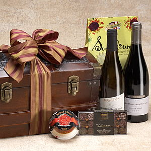Dynamic Duo Wine Gift Basket, corporate gift basket