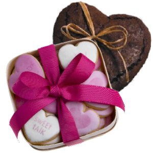Heart Cookies and Cake