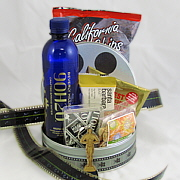 Hollywood basket in a film tin with California treats