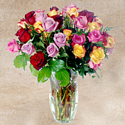 Mixed Roses Gift Basket