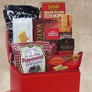Happy Red Trunk Gift Basket