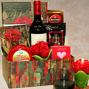 Red Romance Gift Basket