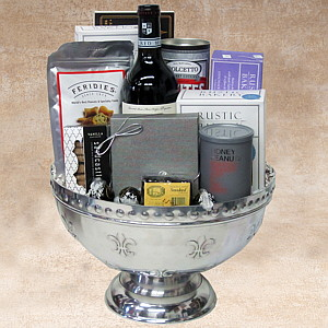 Silver Service Wine Gift Basket