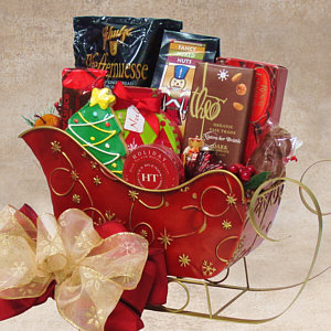 Fancifull Sleigh Gift Basket
