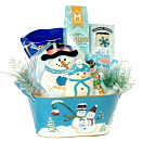 Silver Snowflake Holiday Gourmet Gift Basket