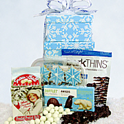 Snowflake Snacks Gift Basket