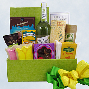 Spring Bouquet Gift Basket