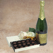 Sparkling Duo - Champagne and Truffles Gift Basket