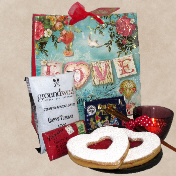 Valentine Greeting Gift Basket