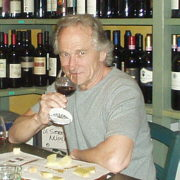 Wally tasting wine in Florence