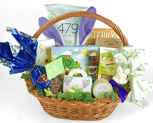 Easter gift baskets and flowers fancifull gift baskets sweet and savory easter basket negle Gallery