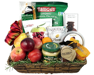 Fine Food And Fresh Fruit Gift Basket