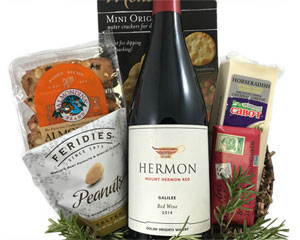Kosher Wine and Cheese Basket