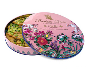 Beautiful tin of Pistachio Brittle