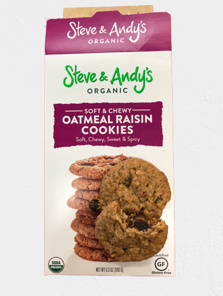 Organic Gluten Free Oatmeal Raisin Cookies from Steve and Andy