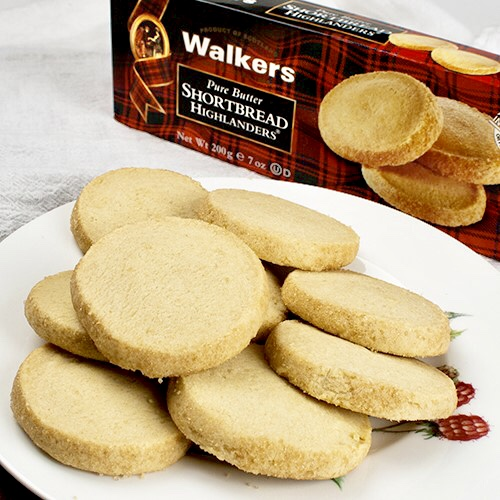 Red Plaid box of walkers shortbread