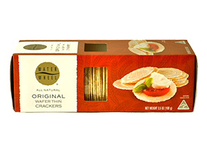 Water Wheel Wafer Thin Crackers