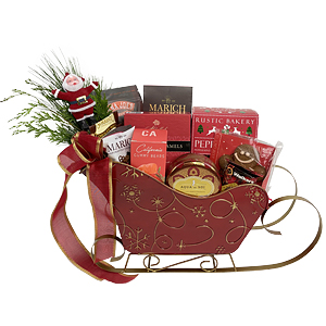 Snowman Sleigh Holiday Gift