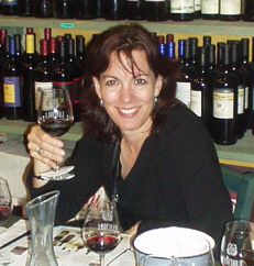 Terry August tasting wine in Florence