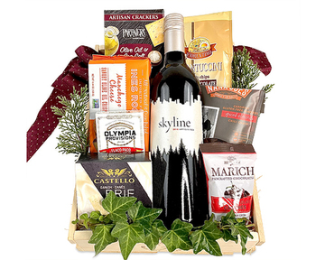 Wine gift baskets top sellers from fancifull gift baskets wine classic gift basket negle Gallery